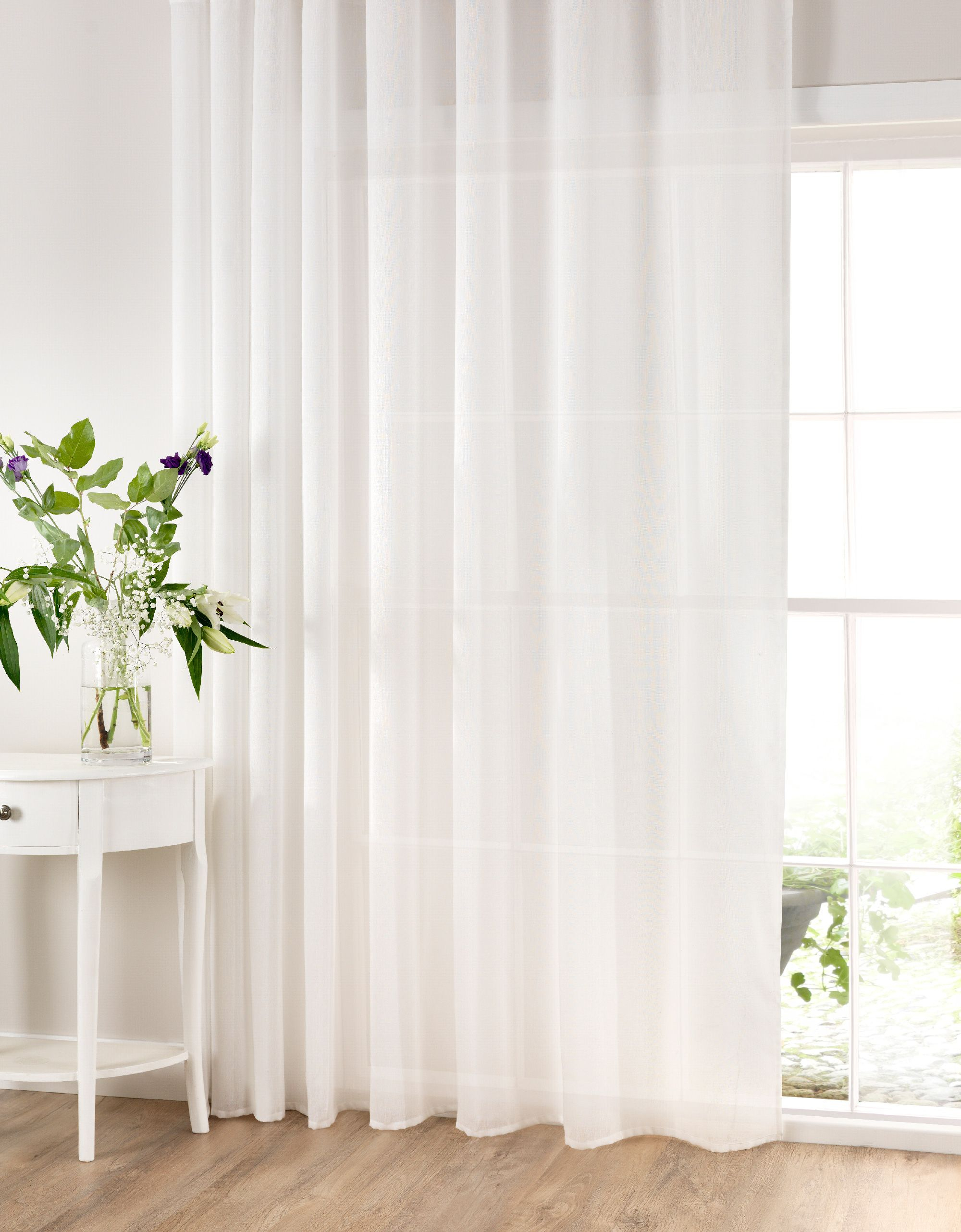 Extra Wide Cotton Rich Panelssheer Ideas – In Ready Made With Extra Wide White Voile Sheer Curtain Panels (View 9 of 20)