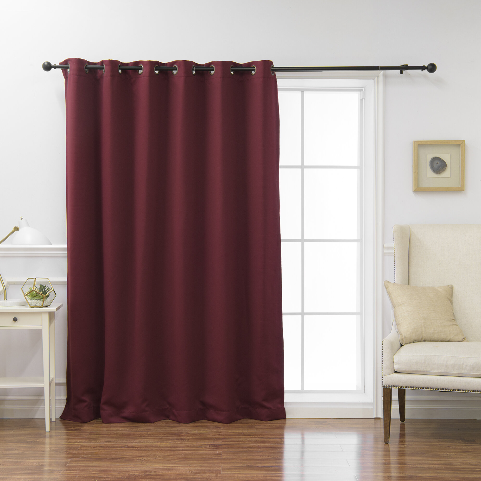 Extra Wide Drapes | Wayfair Within Faux Linen Extra Wide Blackout Curtains (View 20 of 20)