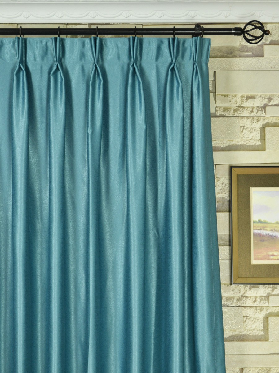Extra Wide Swan Gray And Blue Solid Double Pinch Pleat Inside Solid Cotton Pleated Curtains (View 15 of 30)