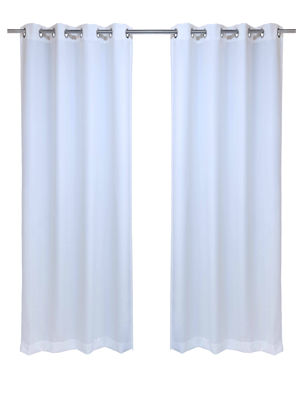 Fairman Solid Semi Sheer Indoor / Outdoor Grommet Single Curtain Panel Regarding Indoor/outdoor Solid Cabana Grommet Top Curtain Panel Pairs (View 16 of 20)