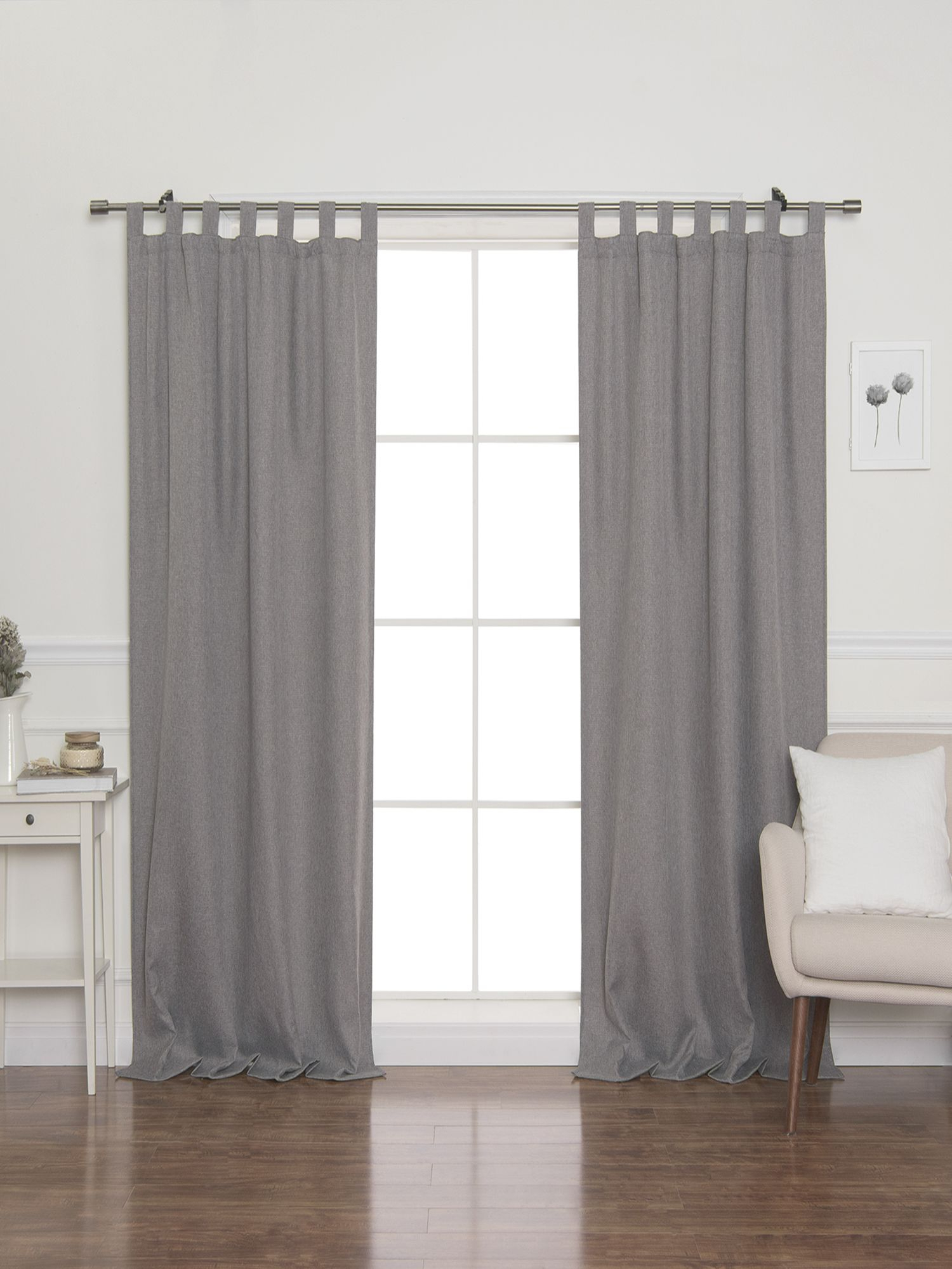 Faux Linen Blackout Tab Top Curtain With Faux Linen Blackout Curtains (View 8 of 20)