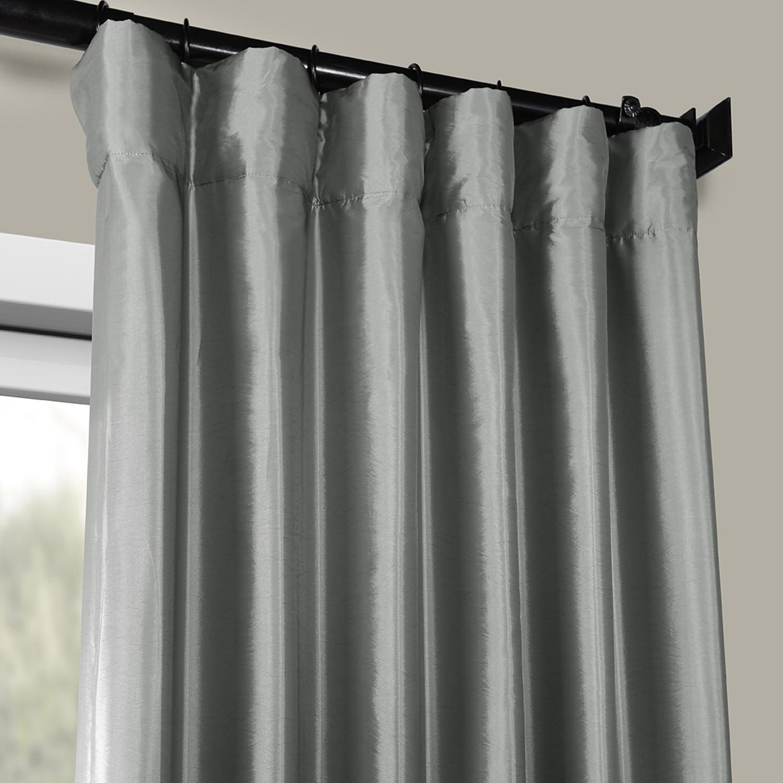 Faux Silk Taffeta Solid Blackout Single Curtain Panel Within Faux Silk Taffeta Solid Blackout Single Curtain Panels (View 10 of 20)