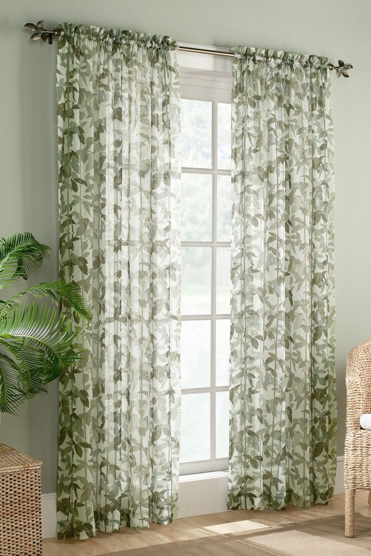 Fiji Sheer Curtains – Willow | Home Improvements | Curtains Inside Willow Rod Pocket Window Curtain Panels (View 8 of 30)