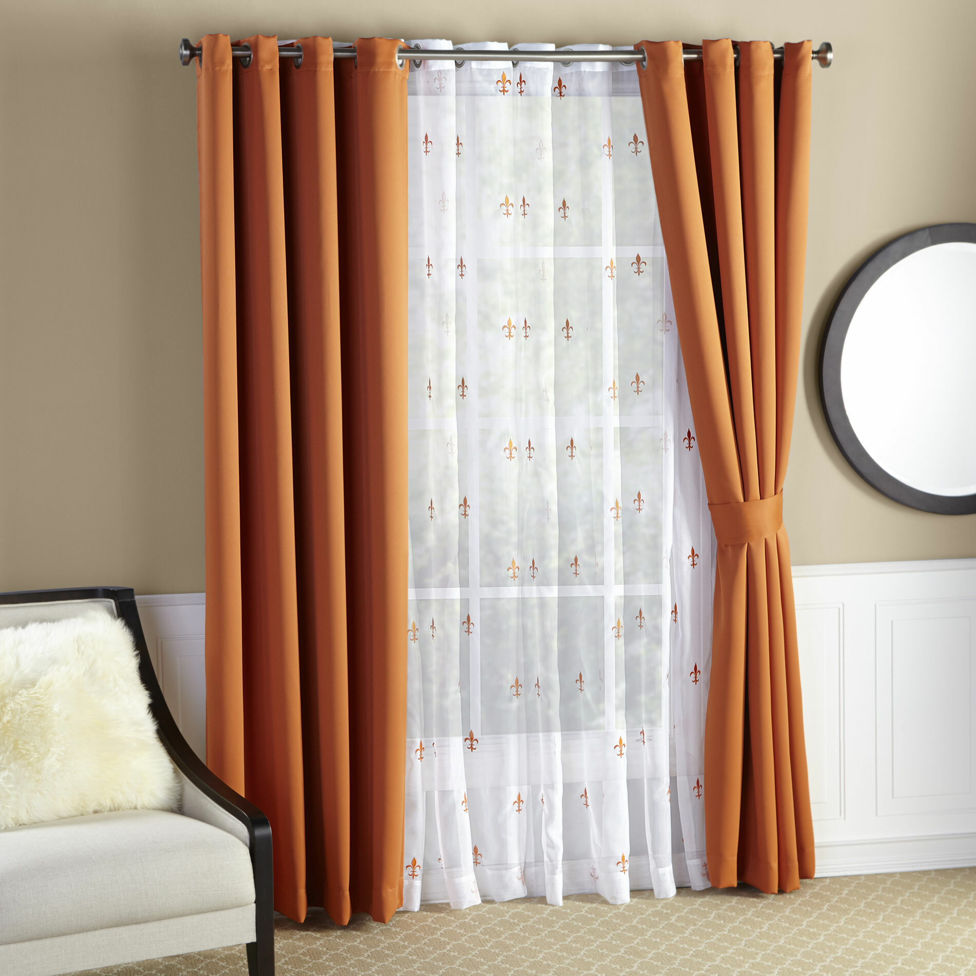 Fleur De Lis Living Collis Solid Max Blackout Thermal With Tuscan Thermal Backed Blackout Curtain Panel Pairs (View 16 of 30)
