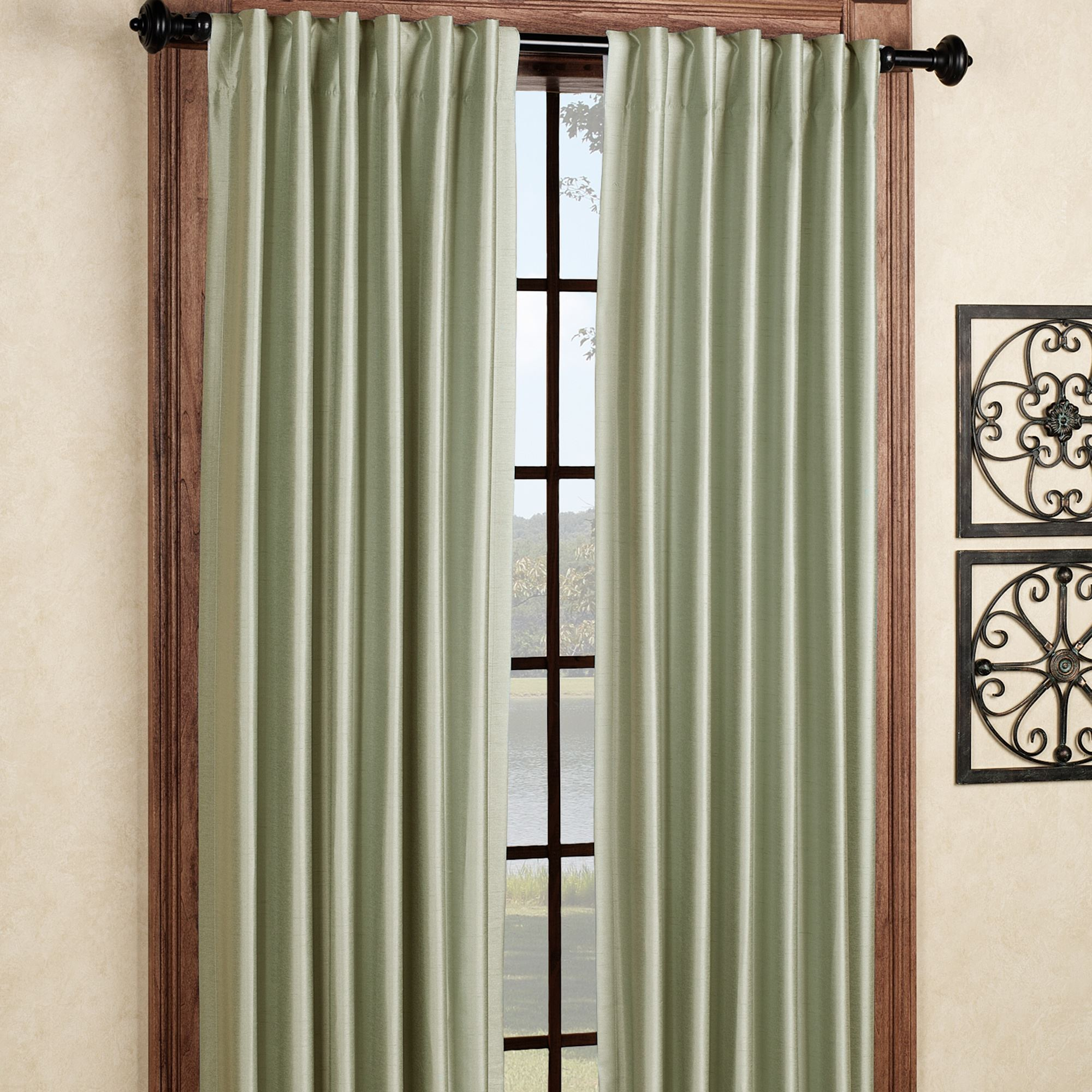 Fontaine Back Tab Room Darkening Curtains Regarding Tuscan Thermal Backed Blackout Curtain Panel Pairs (View 22 of 30)