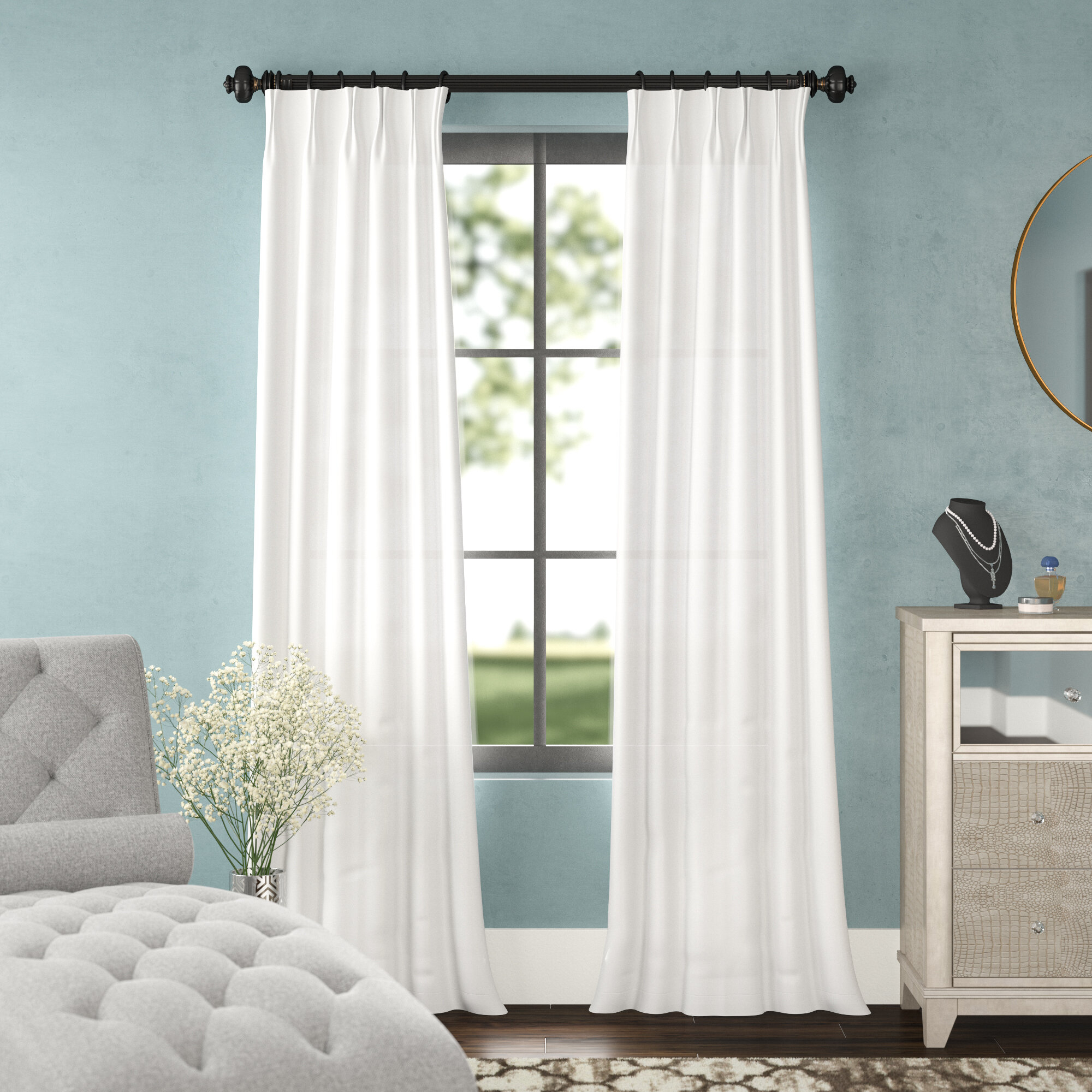 Forbell Solid Blackout Vintage Textured Faux Dupioni Thermal Pinch Pleat Single Curtain Panel Intended For Vintage Faux Textured Dupioni Silk Curtain Panels (View 17 of 30)