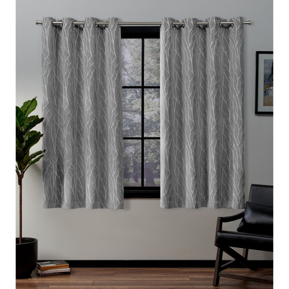 Forest Hill Woven Room Darkening Grommet Top Window Curtain Pertaining To Twig Insulated Blackout Curtain Panel Pairs With Grommet Top (View 15 of 30)