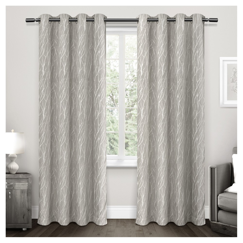 Forest Hill Woven Room Darkening Grommet Top Window Curtain Throughout Forest Hill Woven Blackout Grommet Top Curtain Panel Pairs (View 5 of 20)