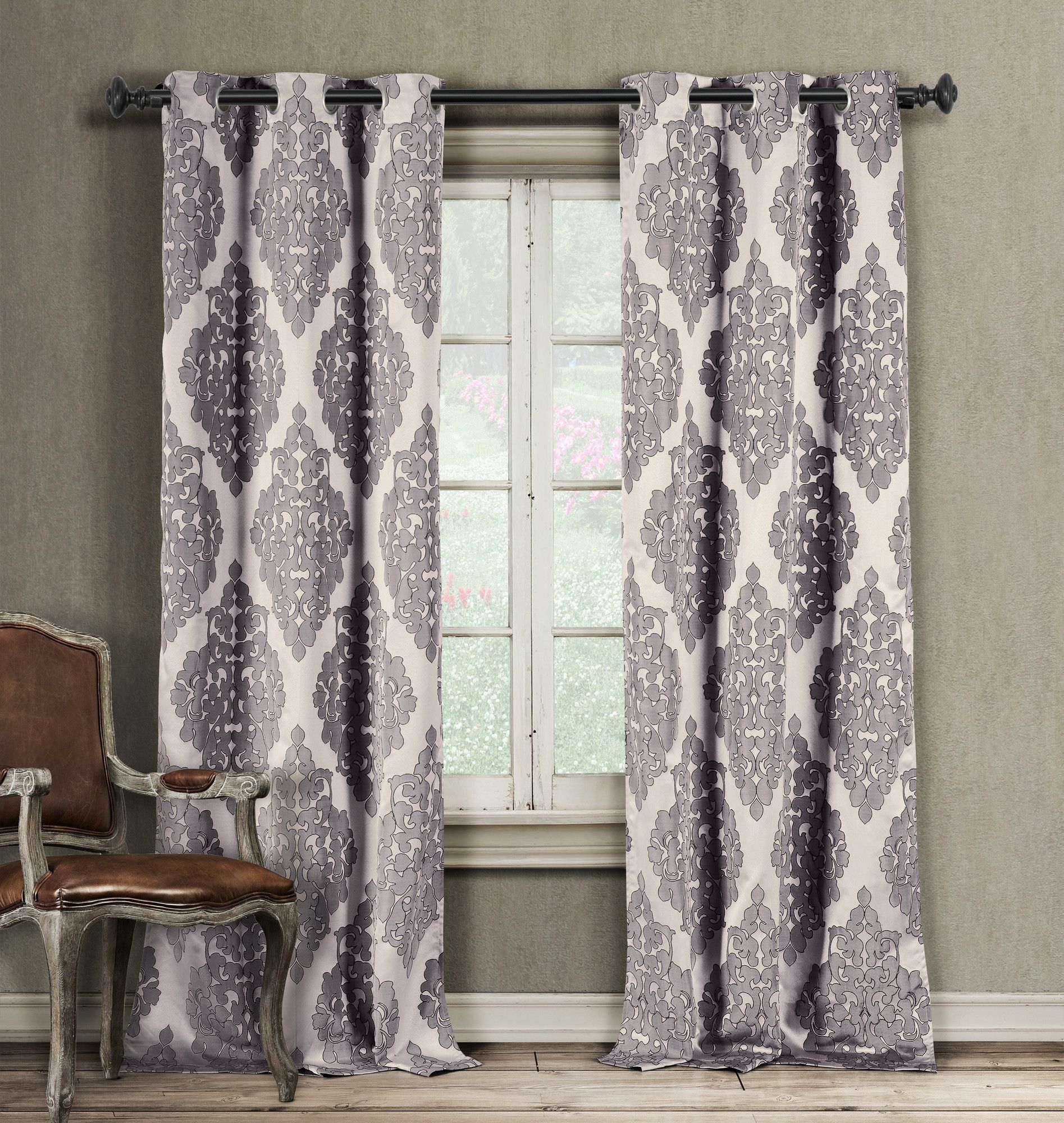 Found It At Wayfair – Catilie Curtain Panel | Bedroom For Pastel Damask Printed Room Darkening Grommet Window Curtain Panel Pairs (View 12 of 20)
