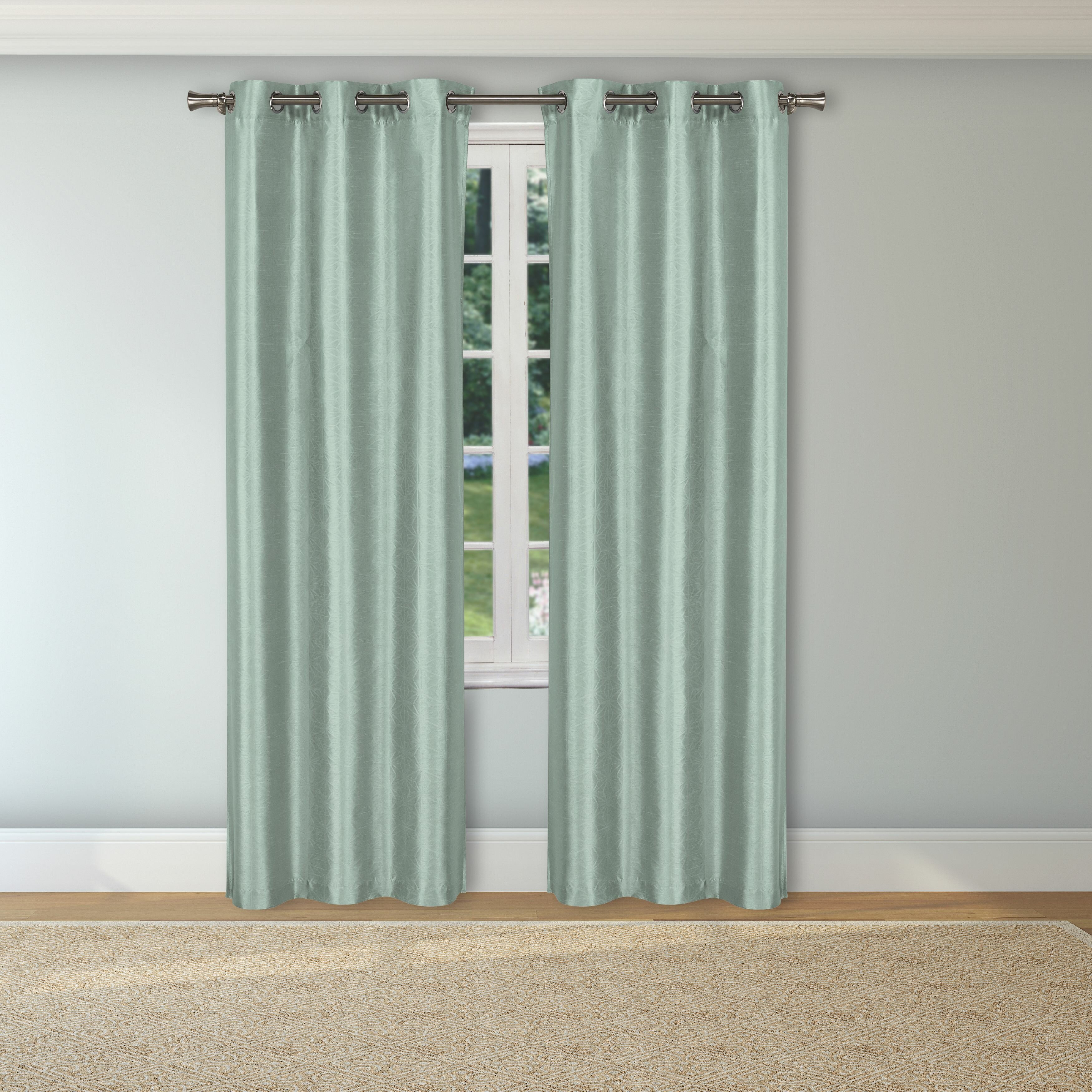 Freelon Solid Blackout Thermal Grommet Curtain Panels Intended For Silvertone Grommet Thermal Insulated Blackout Curtain Panel Pairs (View 21 of 30)
