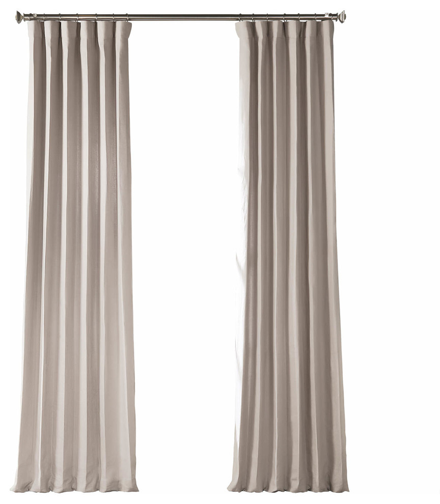 """French Linen Curtain Single Panel, Earl Gray, 50""""x96"""" With Signature French Linen Curtain Panels (View 12 of 30)"""