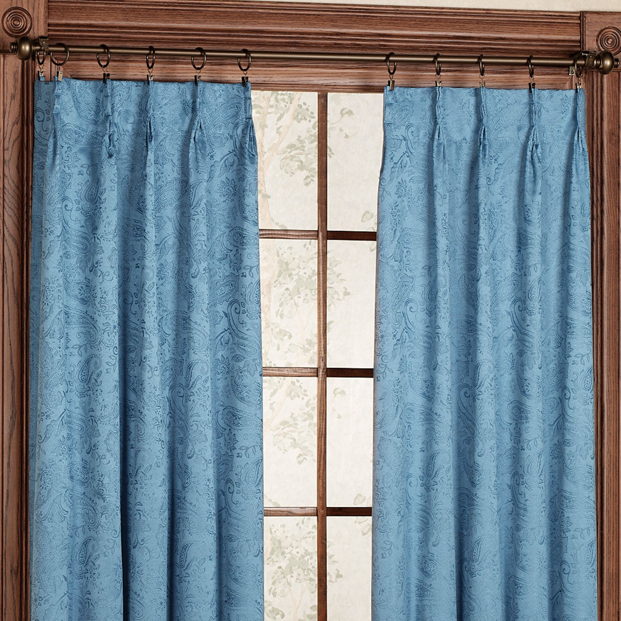 Gabrielle Pinch Pleat Thermal Room Darkening Curtains In Double Pinch Pleat Top Curtain Panel Pairs (View 19 of 20)