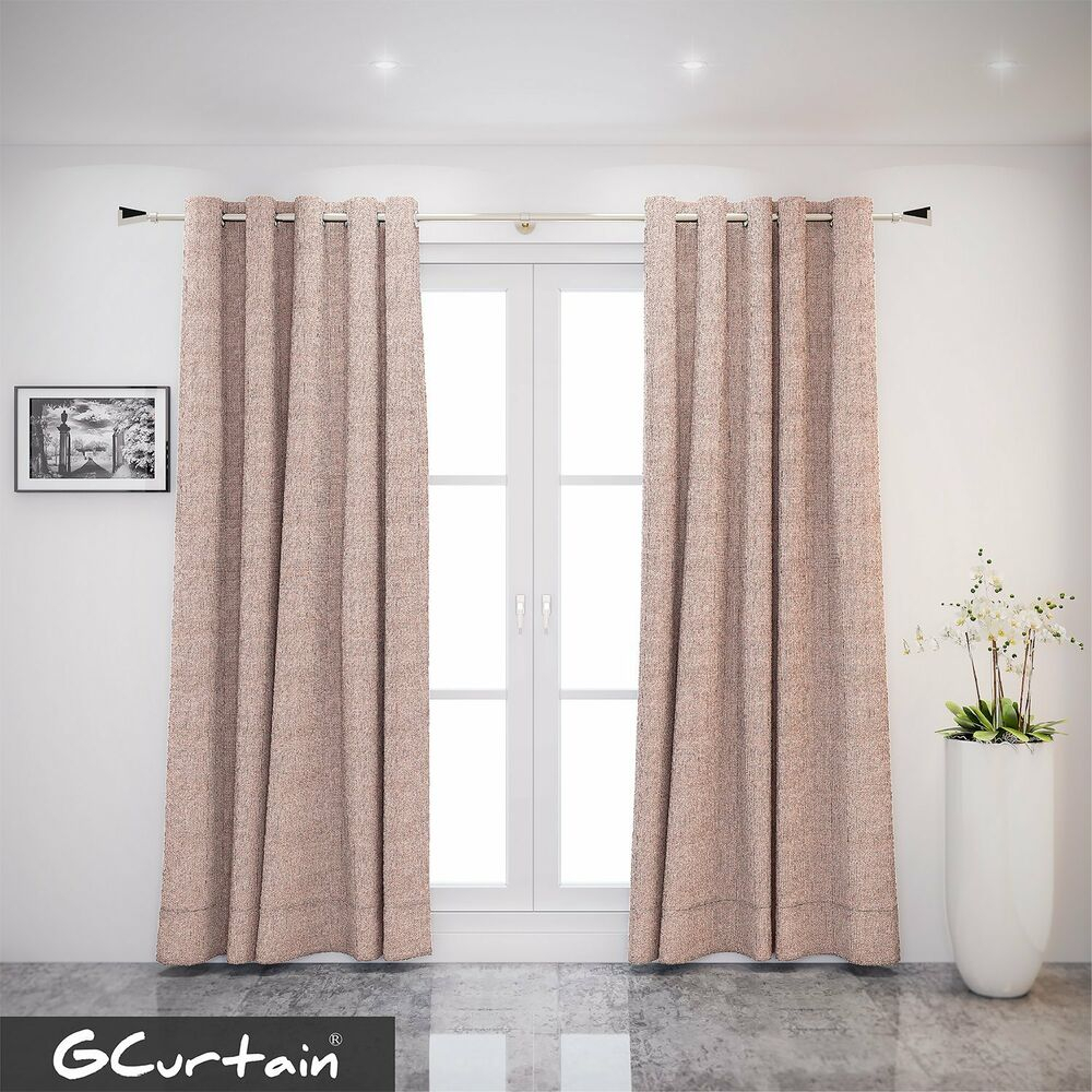 Gcurtain Grommet Top Taupe Flaxen Linen Curtain Window Panels Drapes With 6 Size   Ebay With Sugar Creek Grommet Top Loha Linen Window Curtain Panel Pairs (View 6 of 30)
