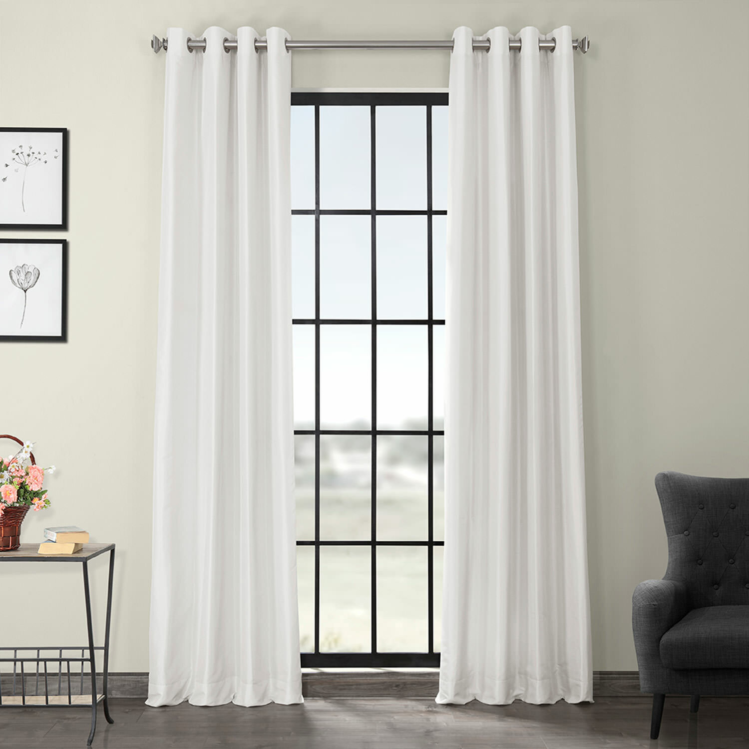 Gediminas Solid Max Blackout Thermal Grommet Single Curtain Panel Pertaining To True Blackout Vintage Textured Faux Silk Curtain Panels (View 21 of 30)
