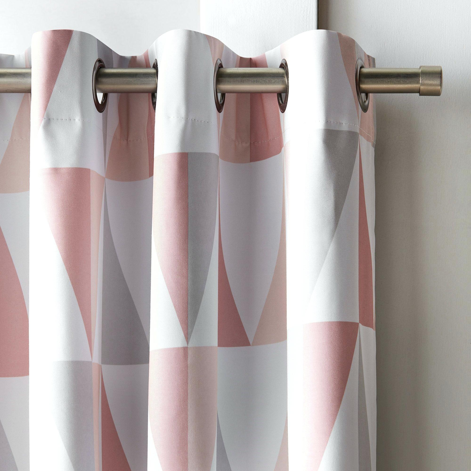 Geometric Blackout Curtains – Bringcahome With Abstract Blackout Curtain Panel Pairs (Image 15 of 22)