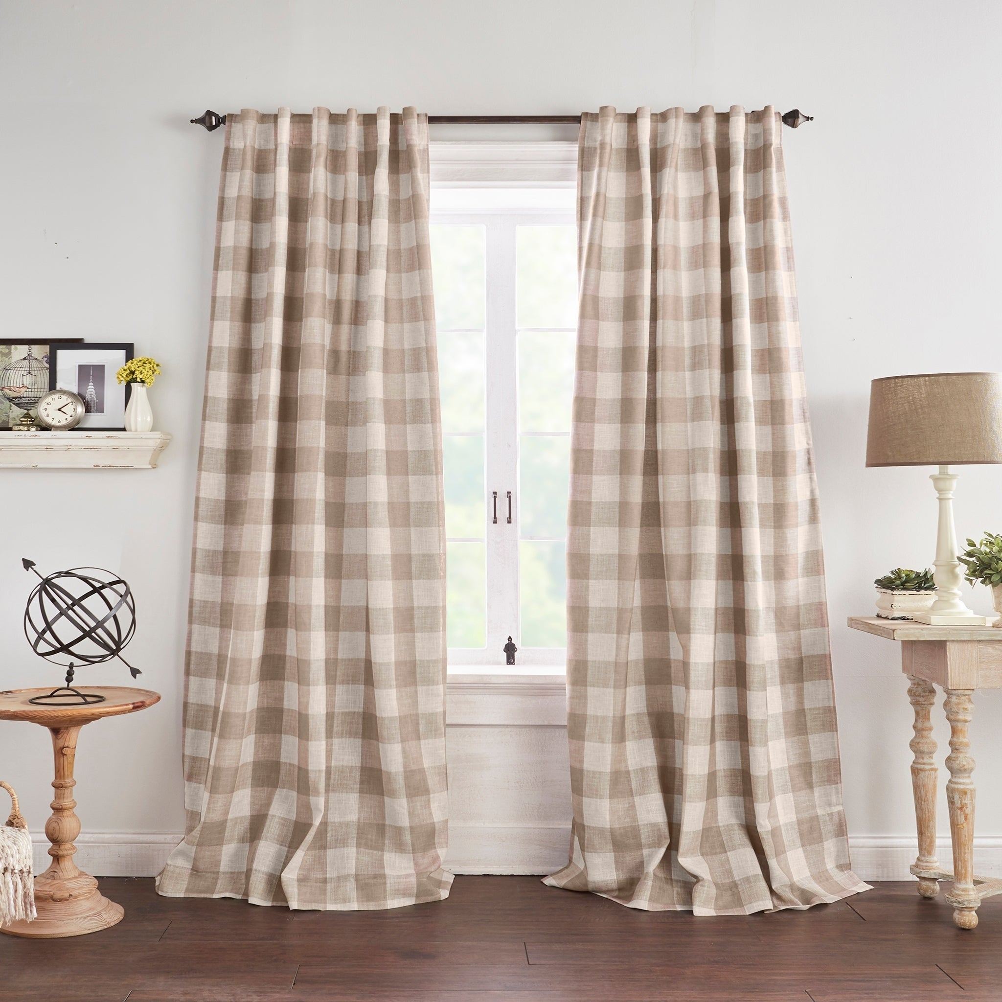 Featured Photo of Grainger Buffalo Check Blackout Window Curtains