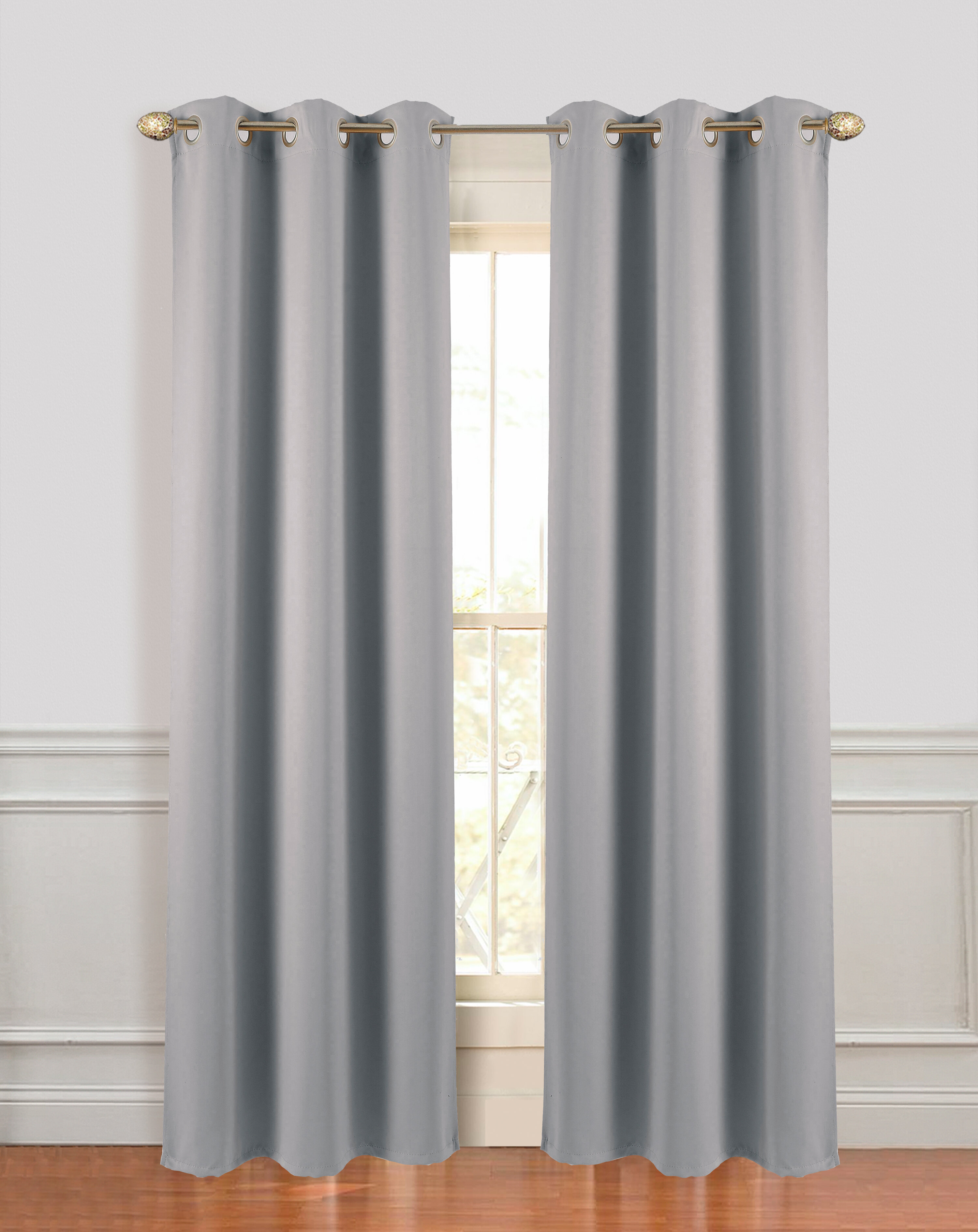 Grand Hotel Extra Wide Solid Blackout Grommet Curtain Panels Throughout Blackout Grommet Curtain Panels (View 15 of 20)