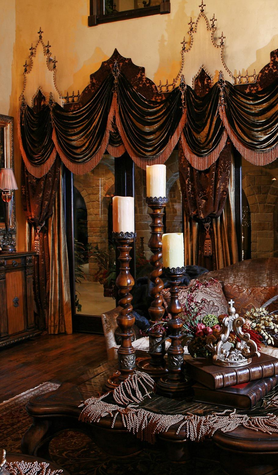 Grandeur Designs | Old World Style | Tuscan Kitchen Design Inside Luxurious Old World Style Lace Window Curtain Panels (View 15 of 20)