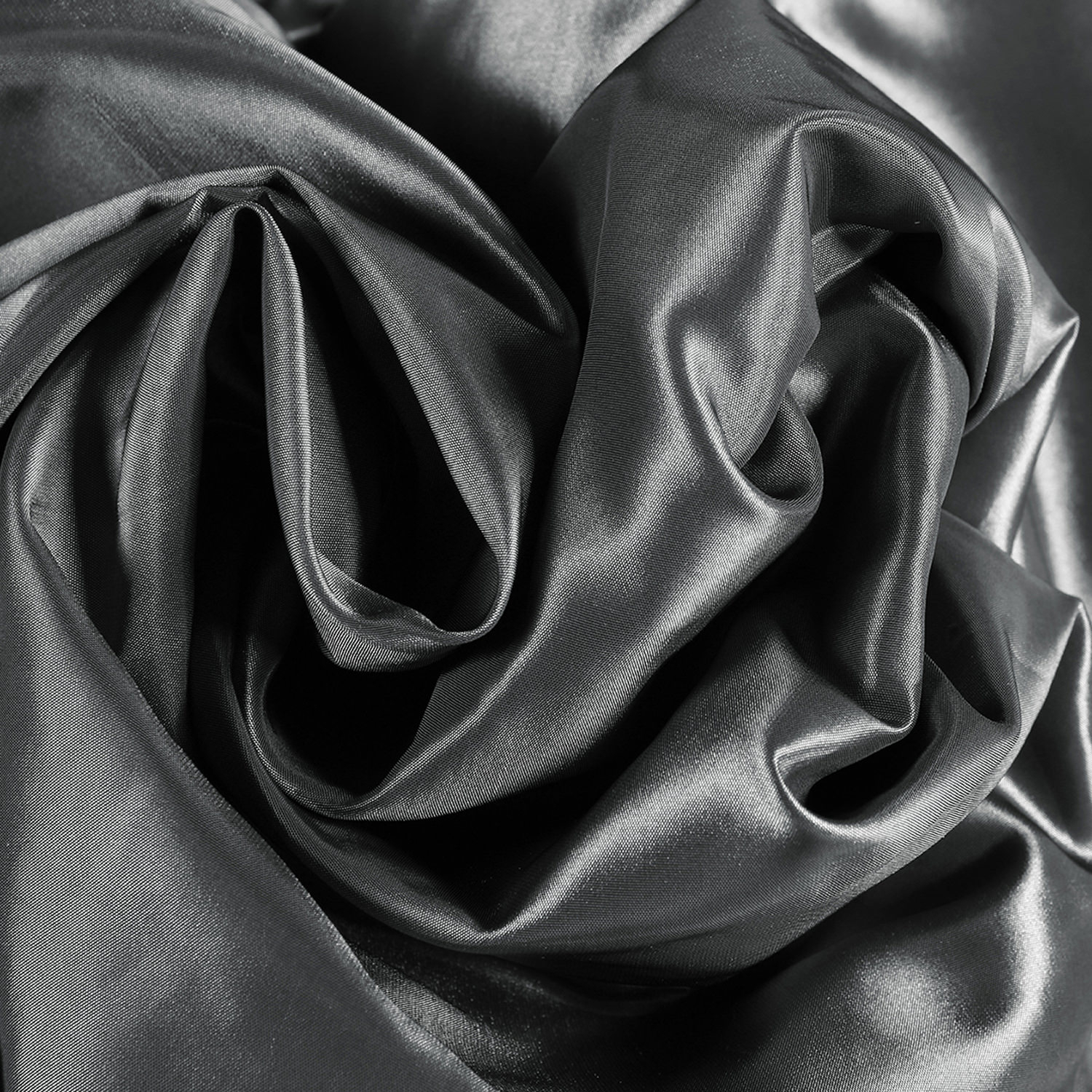 Graphite Faux Silk Taffeta Fabric – Waterford Stripe Curtain Pertaining To Solid Faux Silk Taffeta Graphite Single Curtain Panels (View 16 of 30)
