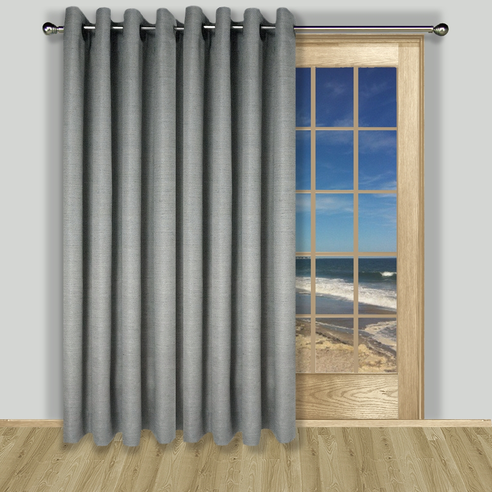 Grasscloth Lined Grommet Patio Panel With Patio Grommet Top Single Curtain Panels (View 14 of 20)