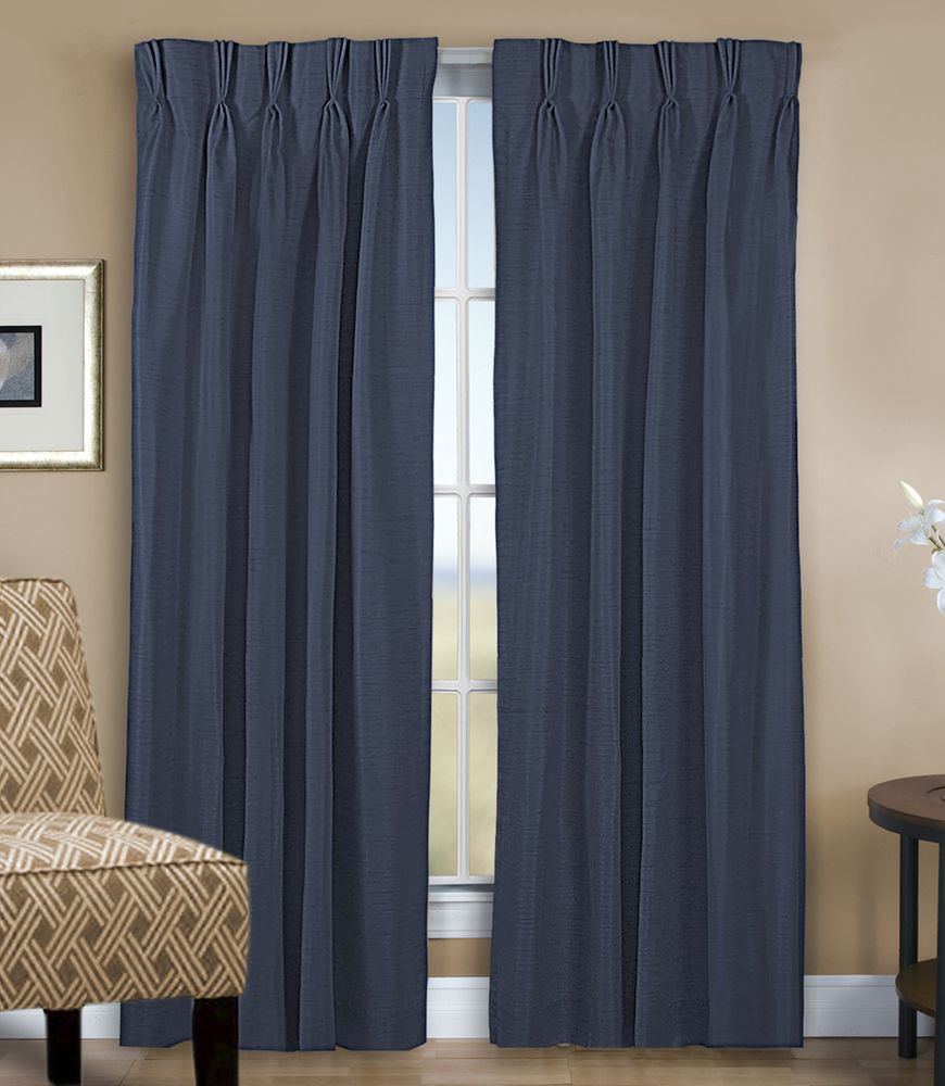 Grasscloth Lined Pinch Pleated (dual Header) Drapery Pair Within Double Pinch Pleat Top Curtain Panel Pairs (View 20 of 20)