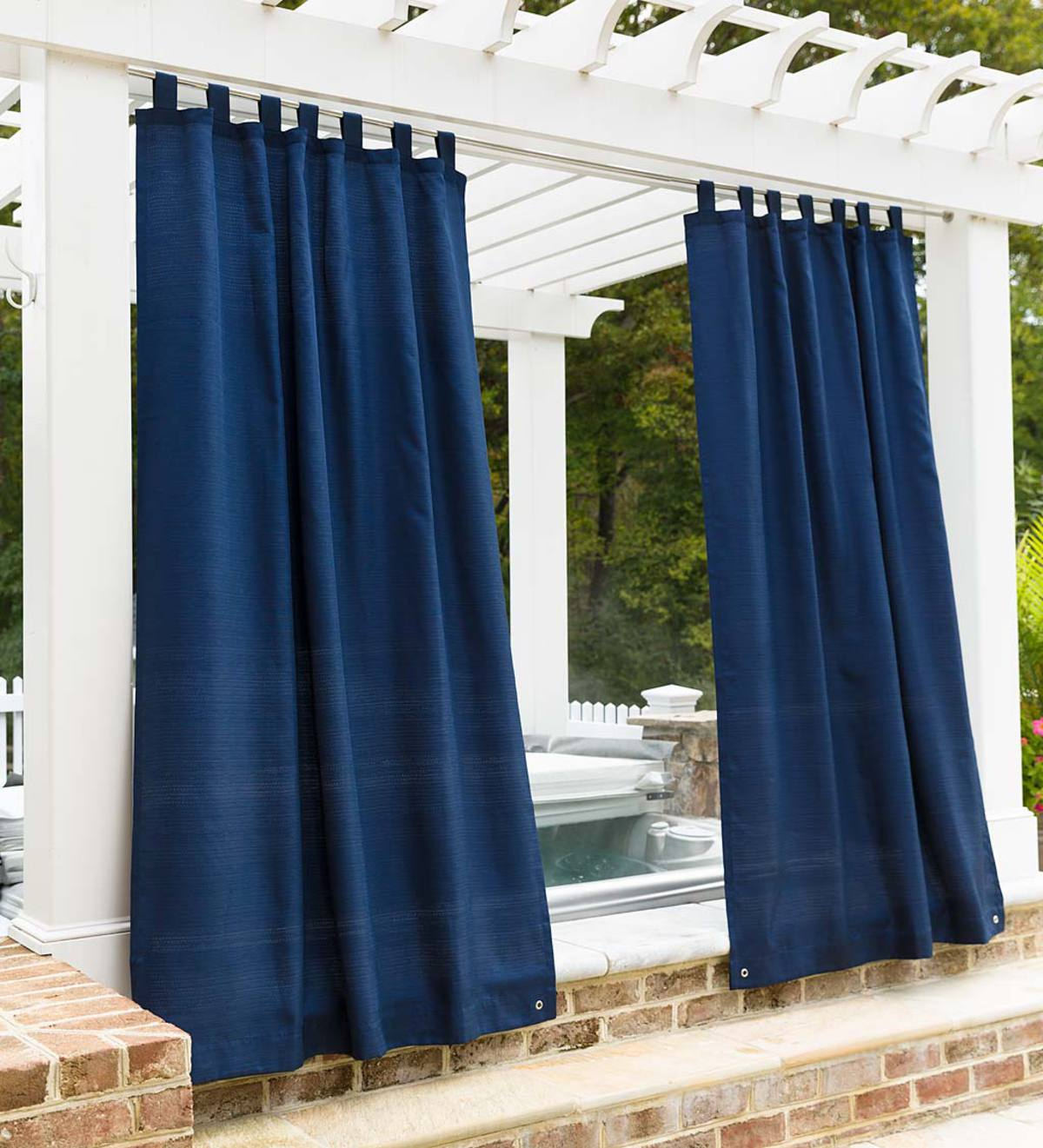 Grasscloth Outdoor Curtain Panel With Grommet Top Throughout Patio Grommet Top Single Curtain Panels (View 15 of 20)