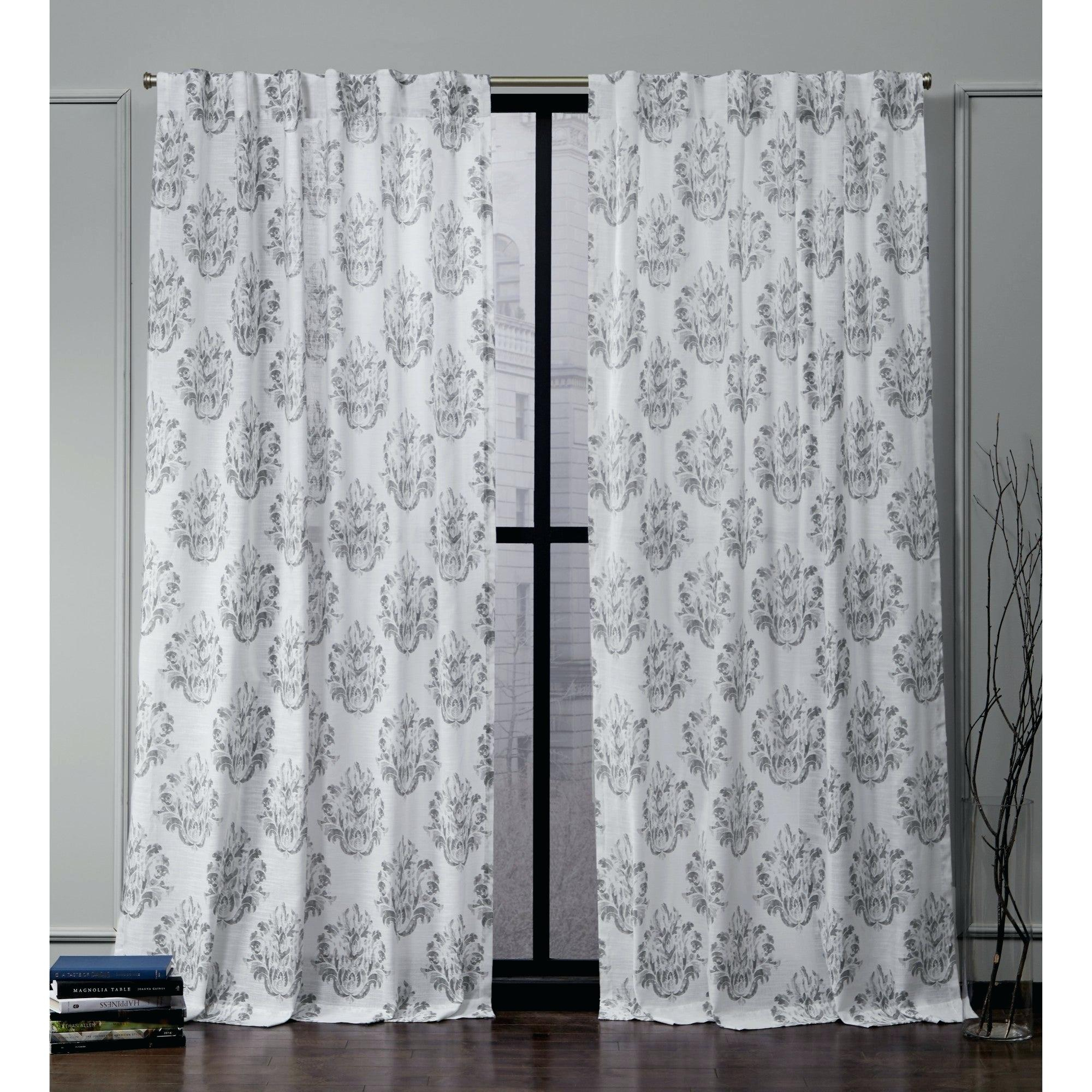 Gray Damask Curtains – Earnestpreciado (View 11 of 20)