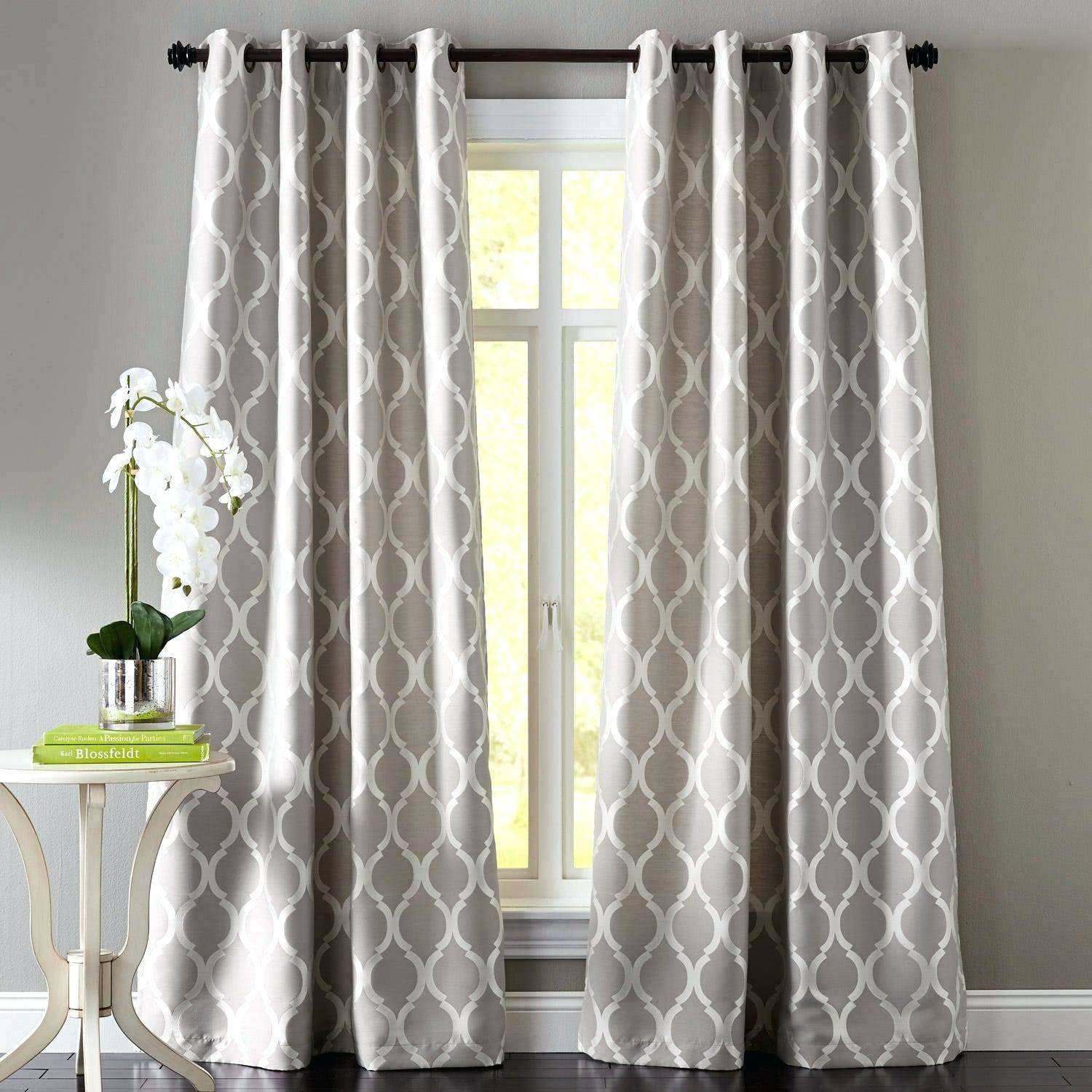 Gray Grommet Curtains – Crafttea Throughout Copper Grove Speedwell Grommet Window Curtain Panels (View 7 of 20)