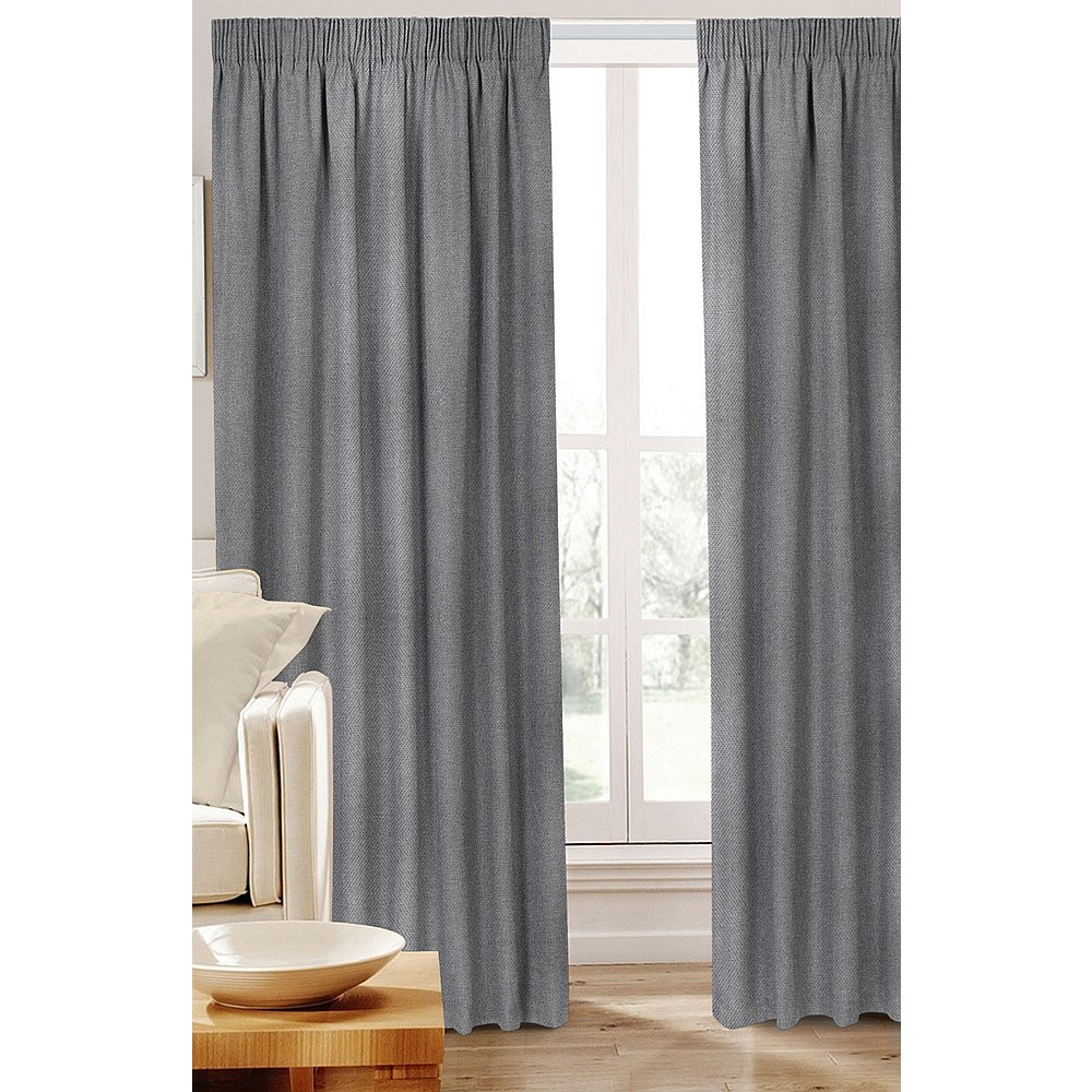 Grey Curtains 90×90 | Flisol Home Intended For Sugar Creek Grommet Top Loha Linen Window Curtain Panel Pairs (View 23 of 30)