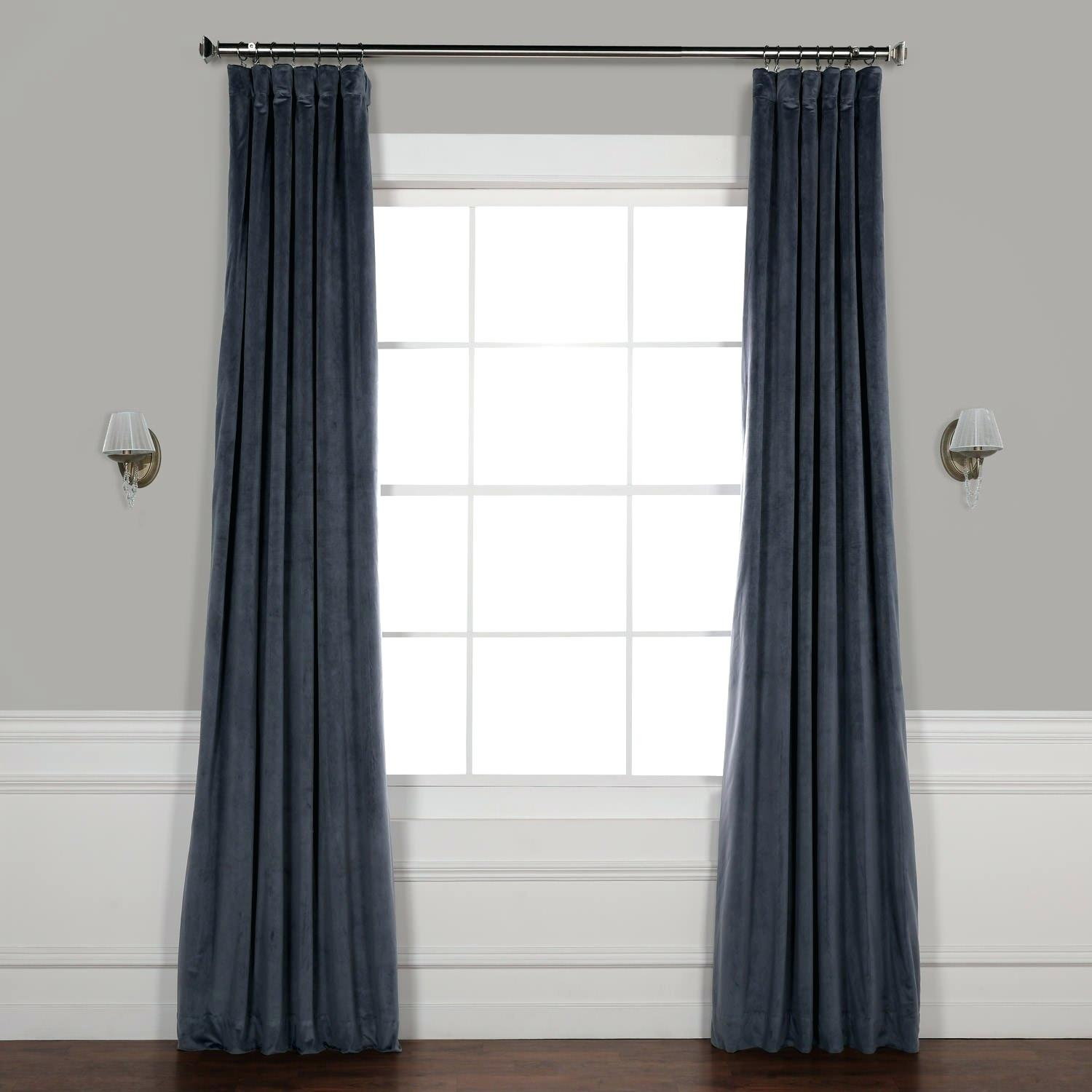 Grey Velour Curtains – Bibliored (View 20 of 20)