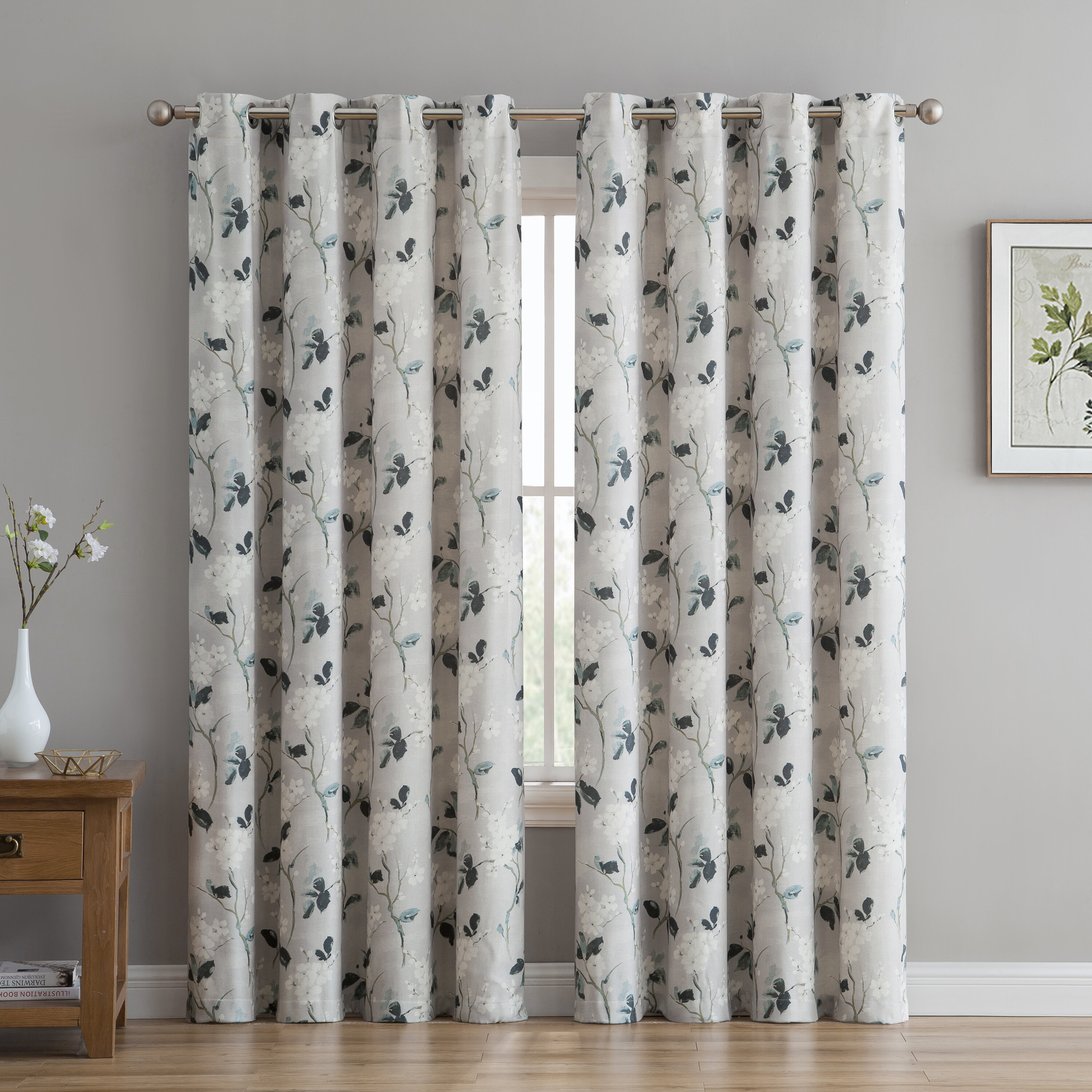 Grommet Curtain Patterns With Regard To Primebeau Geometric Pattern Blackout Curtain Pairs (View 20 of 20)