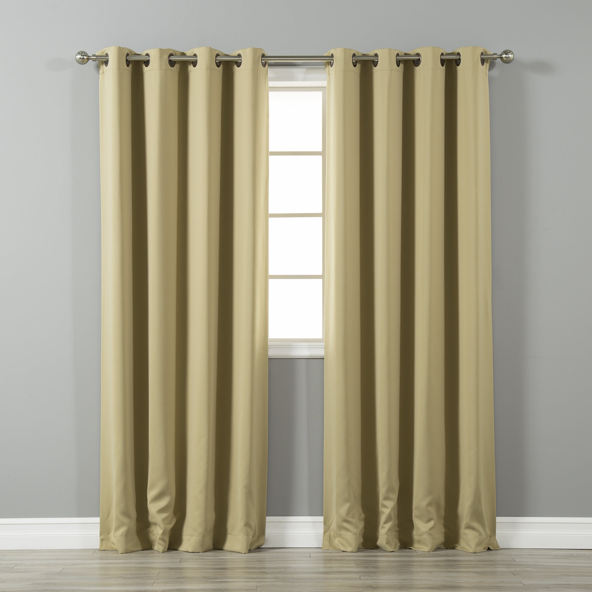 Grommet Thermal Insulated Drapes – Gala Bakken Design In Silvertone Grommet Thermal Insulated Blackout Curtain Panel Pairs (View 23 of 30)