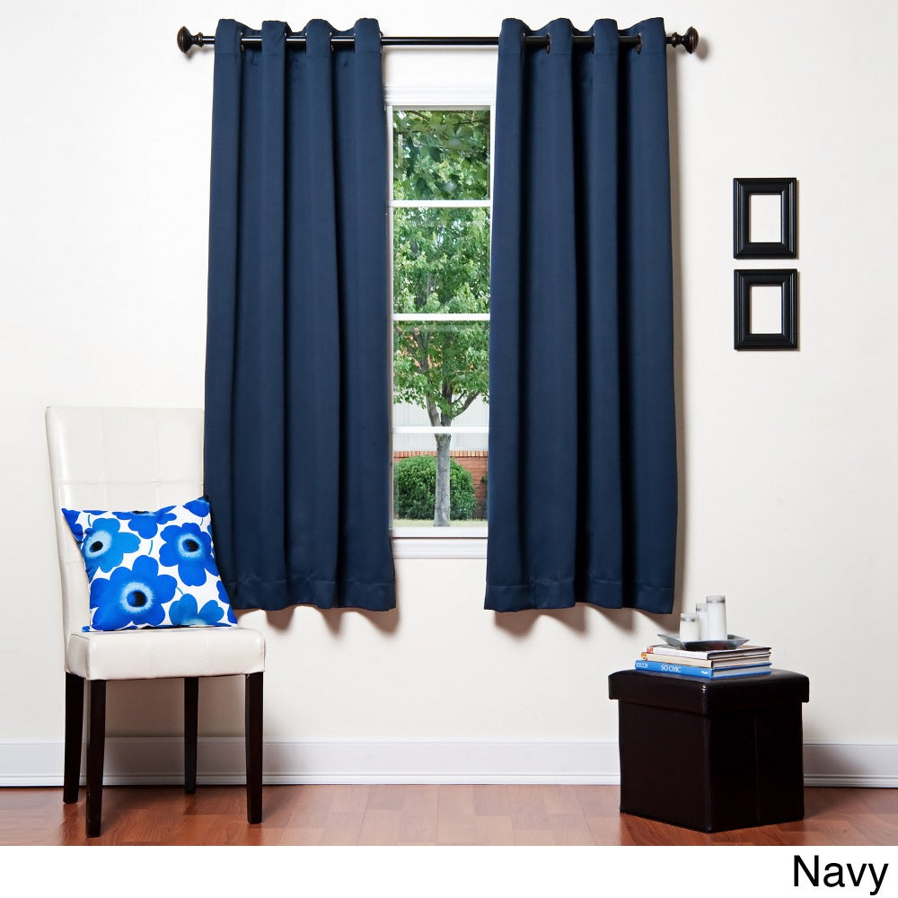 Grommet Top 64 Inch Thermal Insulated Blackout Curtain Panel Within Silvertone Grommet Thermal Insulated Blackout Curtain Panel Pairs (View 25 of 30)
