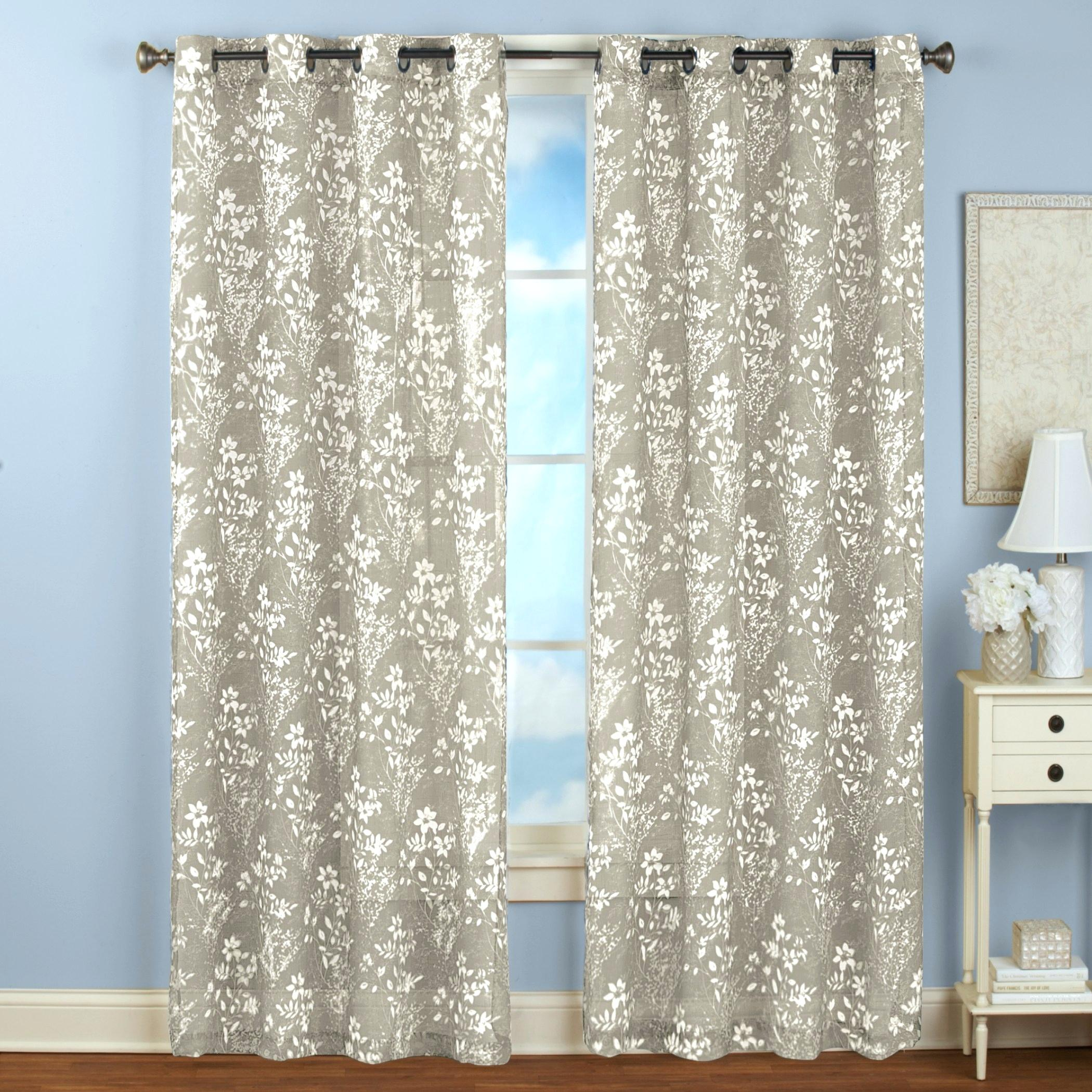 Grommet Top Curtain Panels Extra Wide Printed Blackout Within Forest Hill Woven Blackout Grommet Top Curtain Panel Pairs (View 19 of 20)