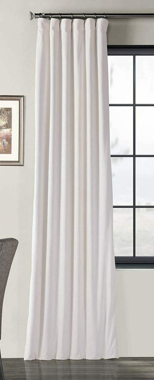 Half Drapes Signature Blackout Velvet Curtain Panel Off Within Signature Blackout Velvet Curtains (View 9 of 20)