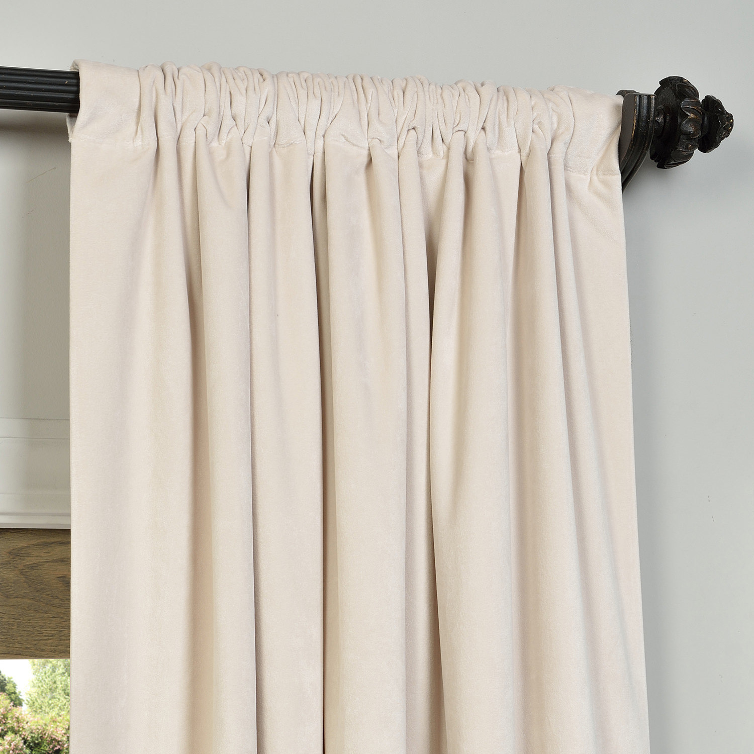 Half Price Drapes Vpch 194023 96 Signature Blackout Velvet Curtain, Midnight Blue Pertaining To Signature Blackout Velvet Curtains (View 14 of 20)