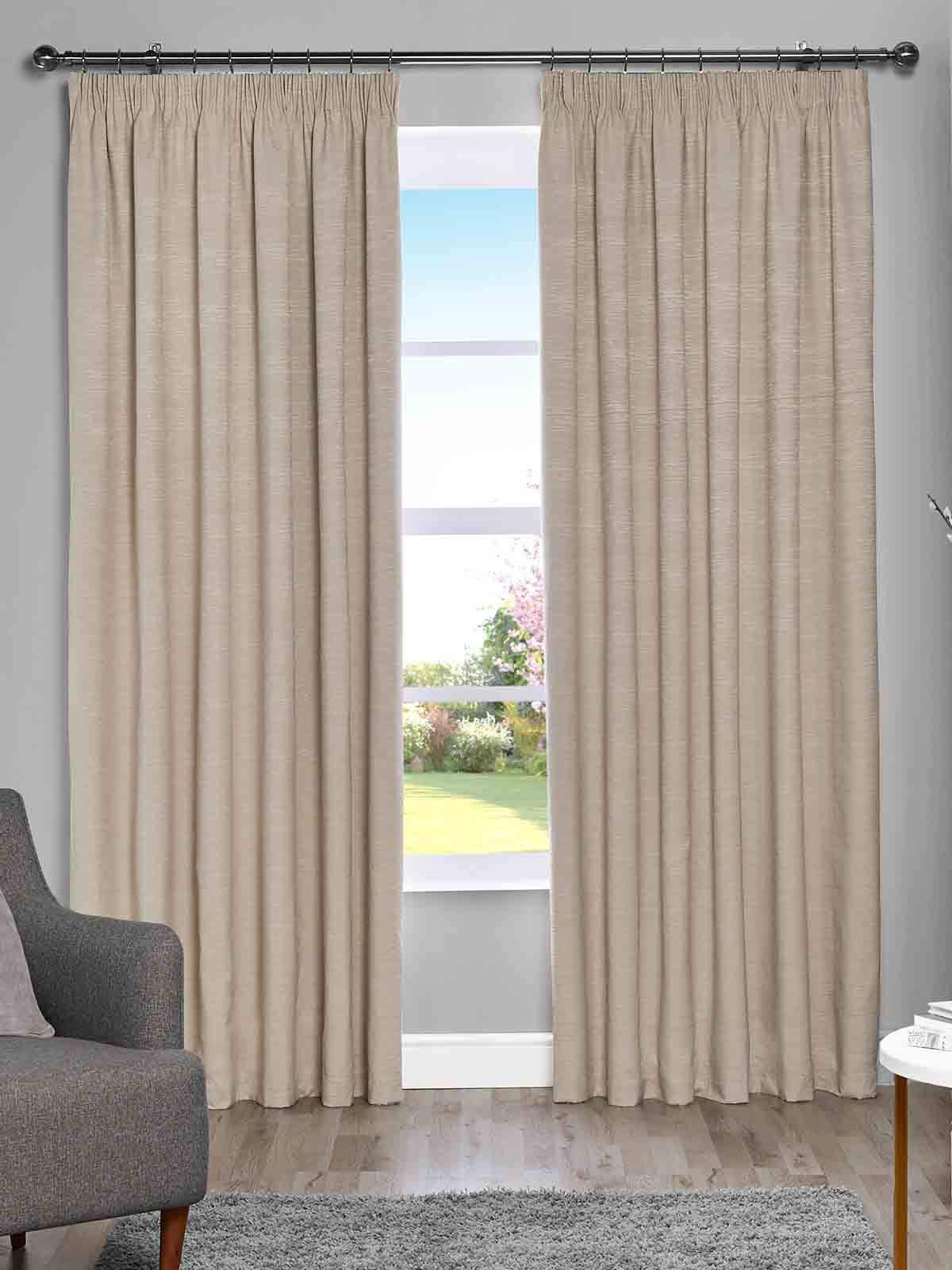 Harmony Blackout Pencil Pleat Curtains Throughout All Seasons Blackout Window Curtains (Image 15 of 20)