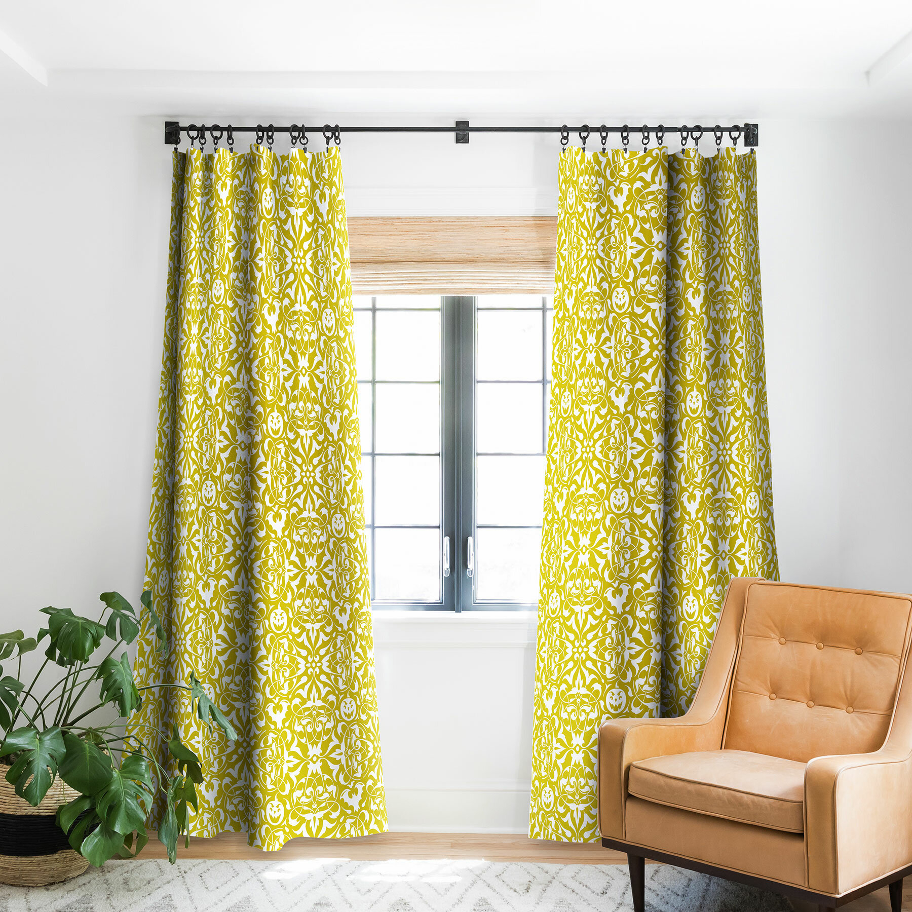 Heather Dutton Gothique Glow Blackout Pinch Pleat Single Curtain Panel Pertaining To Lambrequin Boho Paisley Cotton Curtain Panels (View 12 of 20)
