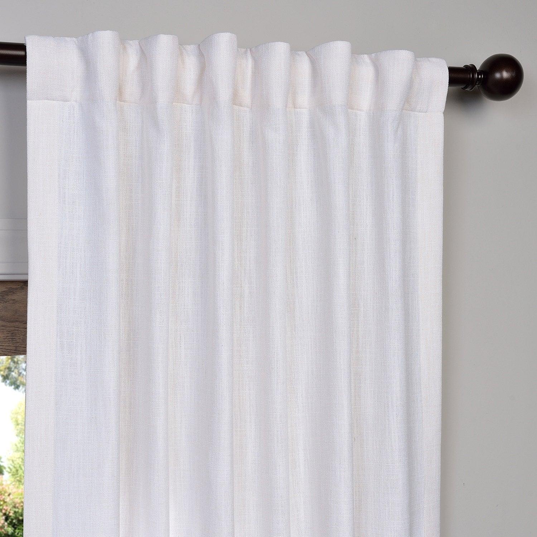 Heavy Faux Linen Single Curtain Panel inside Heavy Faux Linen Single Curtain Panels (Image 8 of 20)