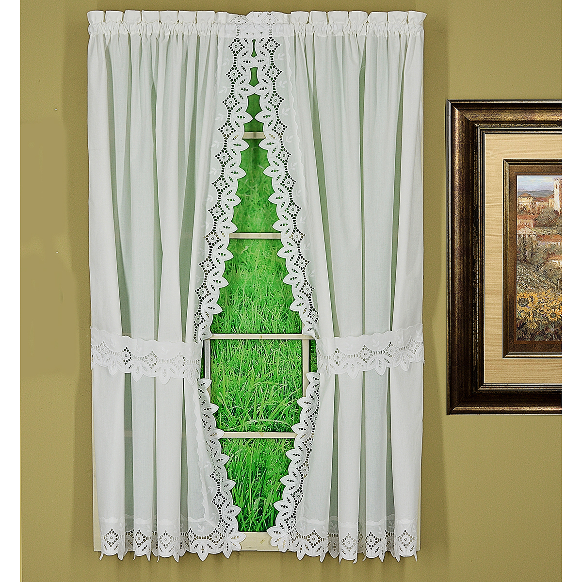 Heirloom Embroidered Curtain Panel Pairs Inside Curtain Panel Pairs (View 10 of 20)