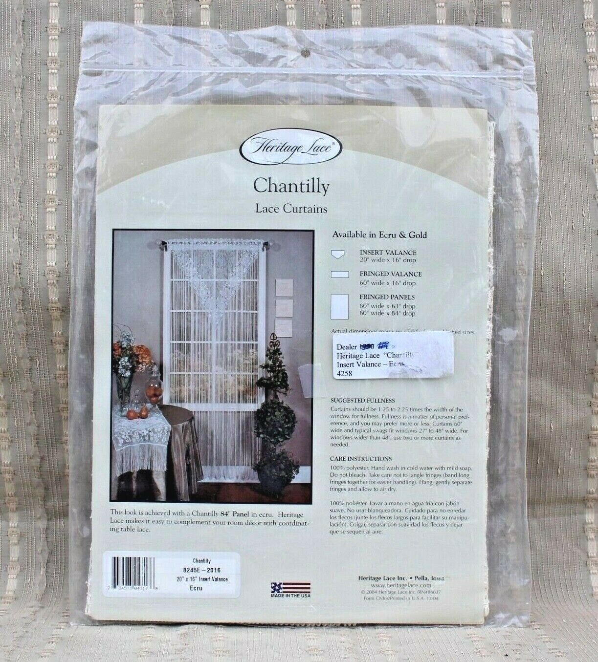 Heritage Lace Tier Curtain Garden Flowers Valance Panel Window 60 X 24 White With Regard To Gray Barn Dogwood Floral Curtain Panel Pairs (View 19 of 20)