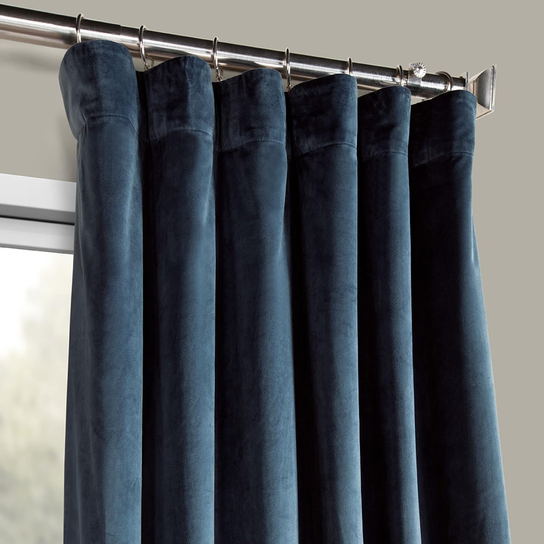 Heritage Plush Velvet Curtain (sold Per Panel) With Heritage Plush Velvet Curtains (View 14 of 20)