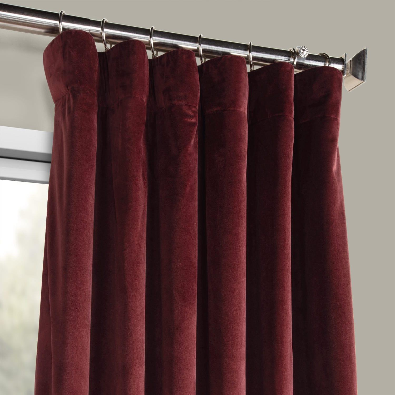 Heritage Plush Velvet Curtain (sold Per Panel) With Heritage Plush Velvet Single Curtain Panels (View 10 of 20)