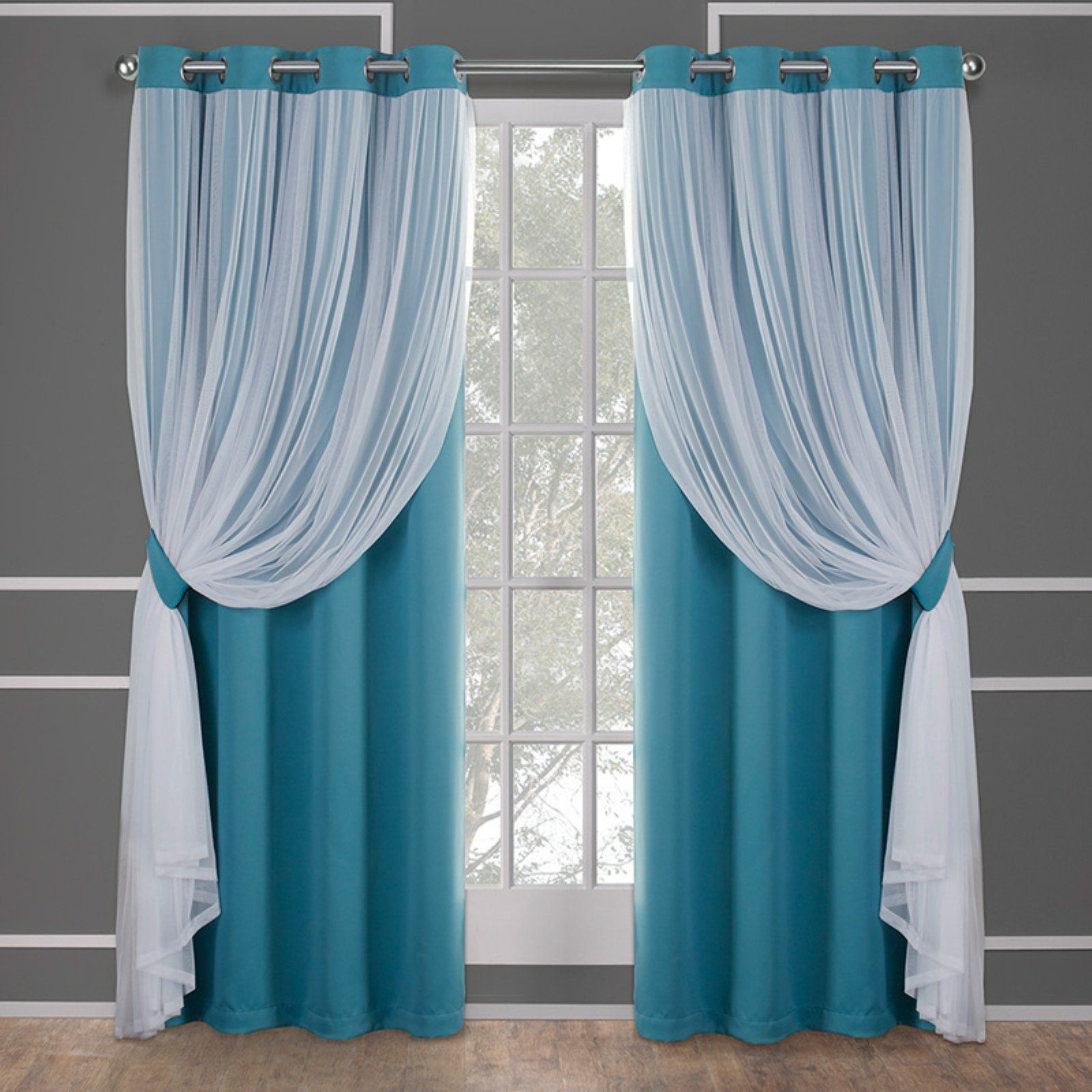 Home | Curtains In 2019 | Curtains, Drapes Curtains, Home Throughout Catarina Layered Curtain Panel Pairs With Grommet Top (View 6 of 20)