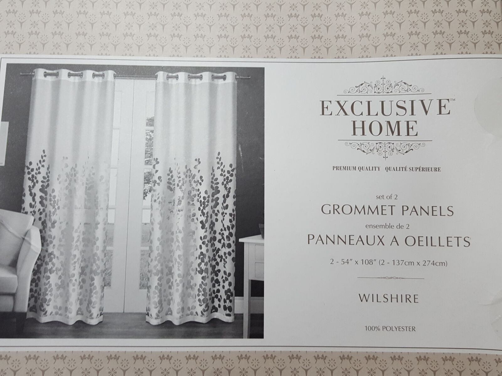 Home Curtains Wilshire Burnout Sheer Grommet Top Window Curtain Panel Inside Wilshire Burnout Grommet Top Curtain Panel Pairs (View 17 of 30)