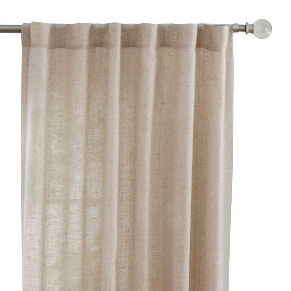 Home Decorators Collection Faux Linen Light Filtering Window Panel In Taupe – 50 In. W X 108 In (View 9 of 20)