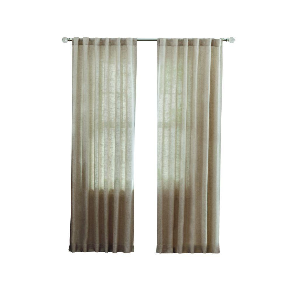 Home Decorators Collection Faux Linen Light Filtering Window Panel In Taupe – 50 In. W X 108 In (View 12 of 20)