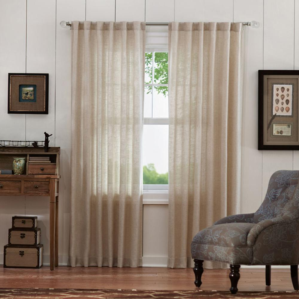 Home Decorators Collection Faux Linen Light Filtering Window Panel In Taupe – 50 In. W X 84 In (View 22 of 30)