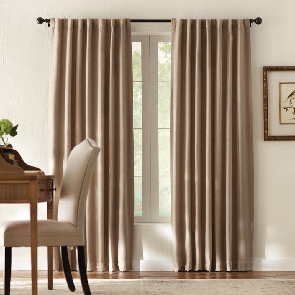 Home Decorators Collection Tweed Room Darkening Window Panel In Taupe – 50 In. W X 84 In (View 19 of 20)