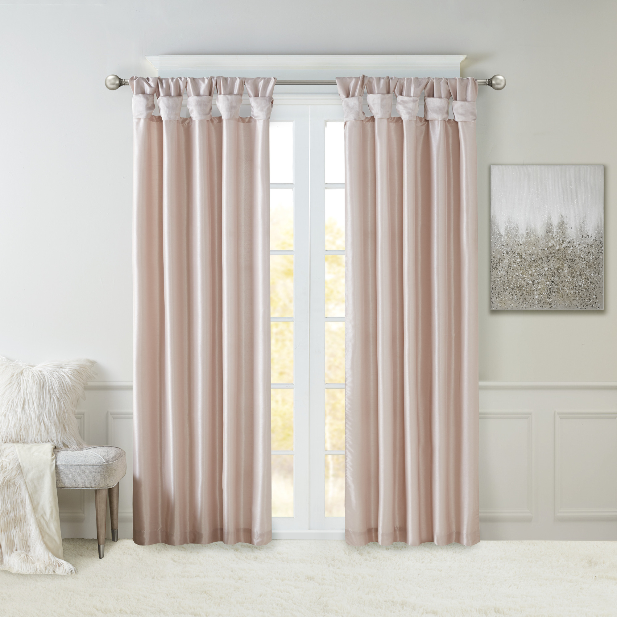 Home Essence Lillian Twist Tab Lined Window Curtain Regarding Twisted Tab Lined Single Curtain Panels (View 11 of 30)